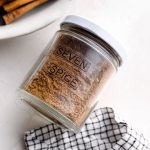 Lebanese seven spice labeled in a jar.