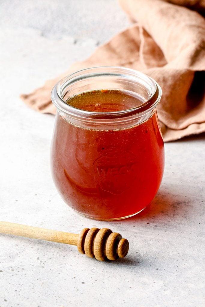 A jar of hot honey.